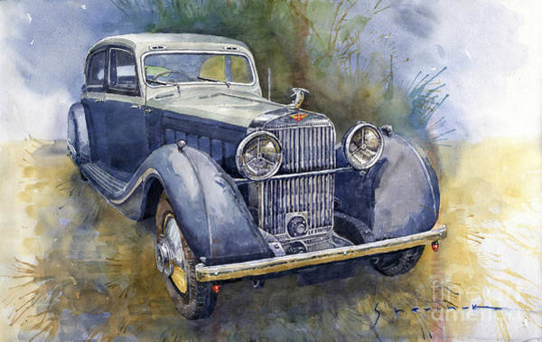 Wall Art - Painting - 1938 Hispano Suiza J12 by Yuriy Shevchuk