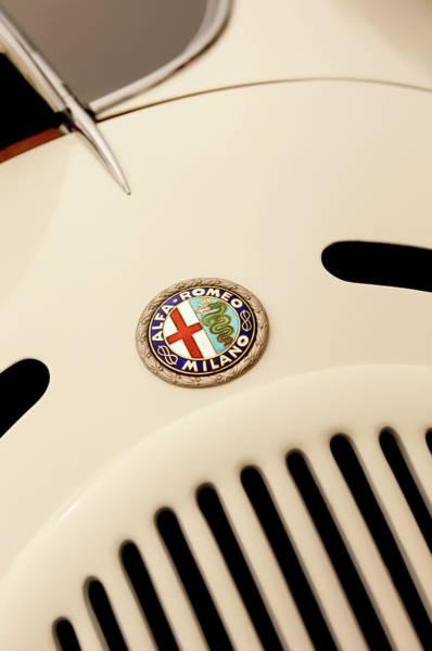 Auto Show Photograph - 1931 Alfa Romeo 6c 1750 Gran Sport Aprile Spider Corsa Hood Emblem by Jill Reger