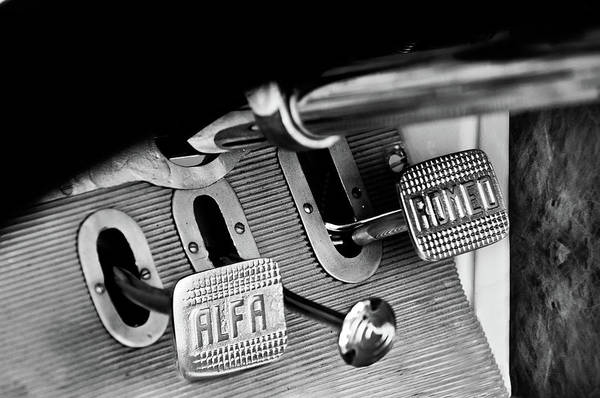 Wall Art - Photograph - 1931 Alfa Romeo 6c 1750 Gran Sport Aprile Spider Corsa Pedals -3689bw by Jill Reger