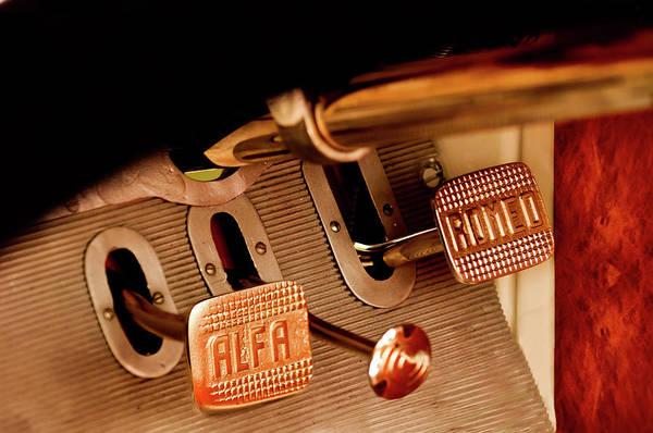 Auto Show Photograph - 1931 Alfa Romeo 6c 1750 Gran Sport Aprile Spider Corsa Pedals by Jill Reger