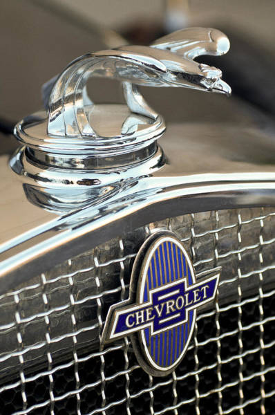 Photograph - 1931 Chevrolet Hood Ornament 2 by Jill Reger