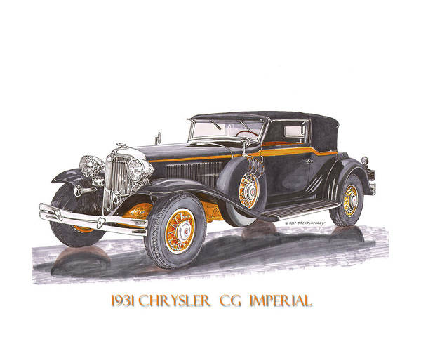 Wall Art - Painting - Chrysler C G Imperial by Jack Pumphrey