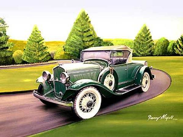 Car Drawings Mixed Media - 1931 Desoto by Danny Whitfield