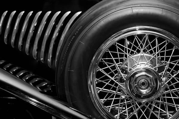 Photograph - 1931 Duesenberg Model J Spare Tire 2 by Jill Reger