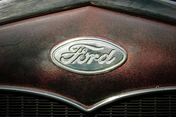 Wall Art - Photograph - 1931 Ford Emblem -0376c3 by Jill Reger