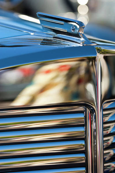 Hoodie Photograph - 1931 Marmon Sixteen Coupe Hood Ornament by Jill Reger