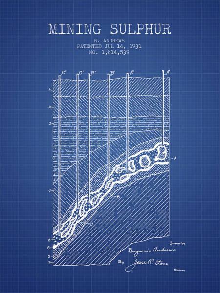 Wall Art - Digital Art - 1931 Mining Sulphur Patent En38_bp by Aged Pixel