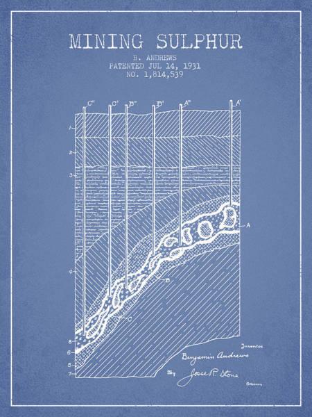 Wall Art - Digital Art - 1931 Mining Sulphur Patent En38_lb by Aged Pixel