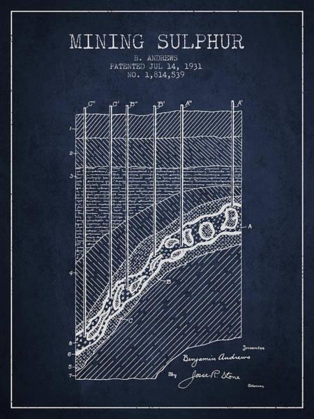 Wall Art - Digital Art - 1931 Mining Sulphur Patent En38_nb by Aged Pixel