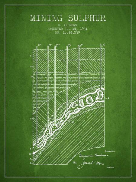 Wall Art - Digital Art - 1931 Mining Sulphur Patent En38_pg by Aged Pixel