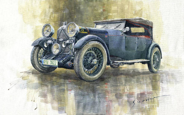 3 Wall Art - Painting - 1932 Lagonda Low Chassis 2 Litre Supercharged Front by Yuriy Shevchuk