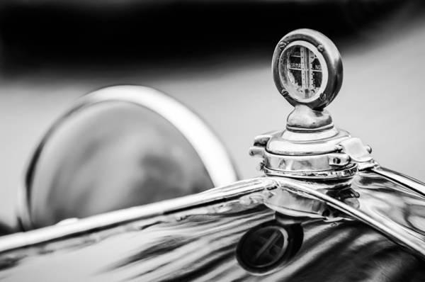 Photograph - 1932 Alfa Romeo Hood Ornament - Motometer -1364bw by Jill Reger