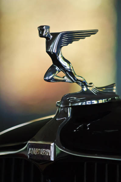 1932 Wall Art - Photograph - 1932 Auburn 12-160 Speedster Hood Ornament by Jill Reger