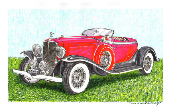 Wall Art - Painting - 1932 Auburn Speedster 8 100 by Jack Pumphrey
