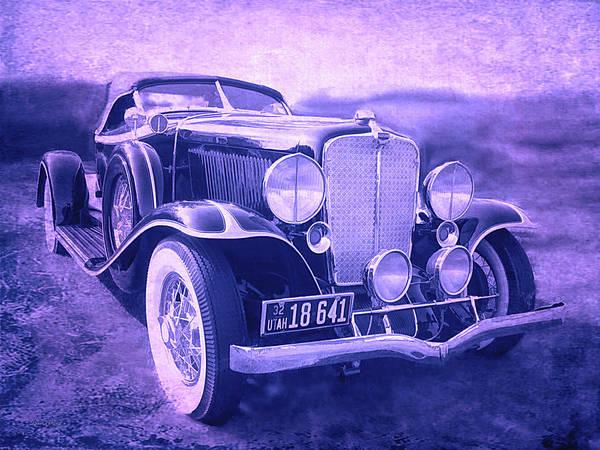1932 Auburn Speedster Violet Grunge Art Print