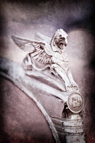 Wall Art - Photograph - 1932 Essex Griffin Hood Ornament -0482ac by Jill Reger