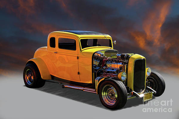 Wall Art - Photograph - 1932 Ford 5 Window Coupe Hot Rod by Nick Gray