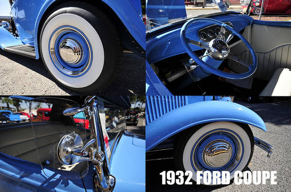V8 Engine Photograph - 1932 Ford Coupe by David Lee Thompson