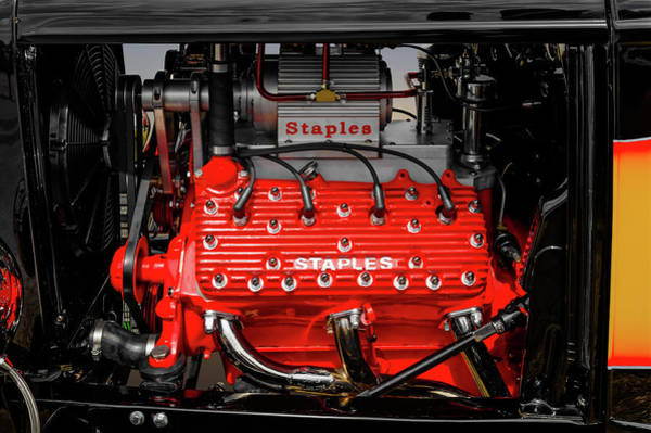 1932 Ford Coupe V8 Supercharged Flathead Engine Detail -  1932fordv8flathead170318 by Frank J Benz