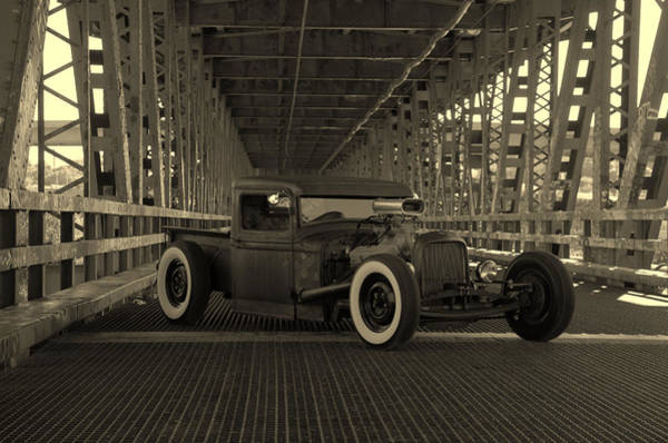 Photograph - 1932 Ford Pickup Rat Rod by Tim McCullough