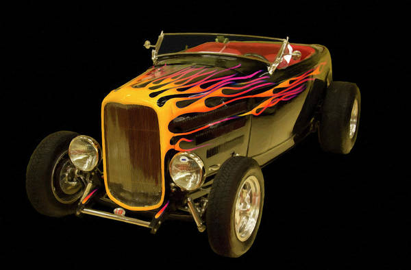Painting - 1932 Ford Roadster Digital Oil by Chris Flees