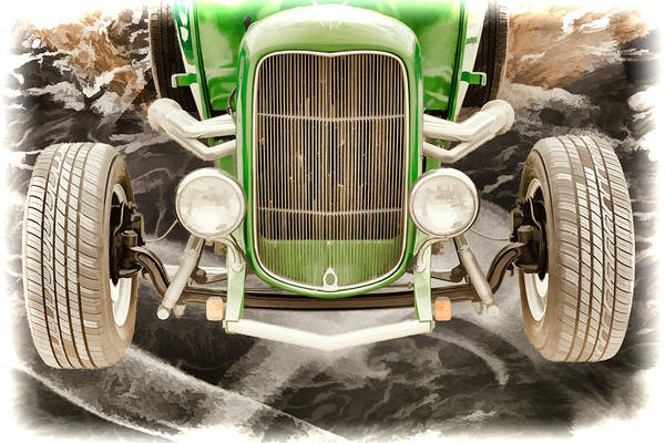 Painting - 1932 Ford Roadster Painting Prints 025.02 by M K Miller