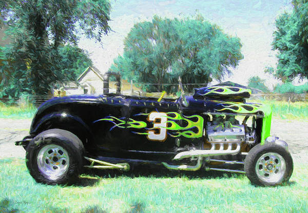 Digital Art - 1932 Ford Roadster Racer by David King