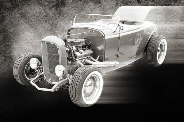 Photograph - 1932 Ford Roadster Sepia Posters And Prints 019.01 by M K Miller