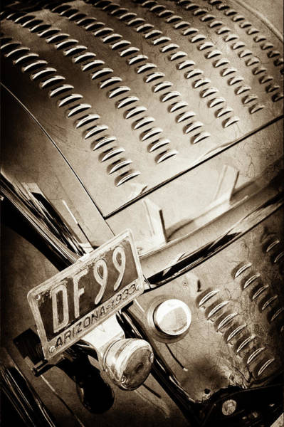 Photograph - 1932 Ford Taillight -0296s by Jill Reger