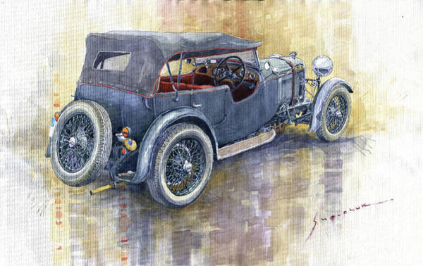 Wall Art - Painting - 1932 Lagonda Low Chassis 2 Litre Supercharged  by Yuriy Shevchuk