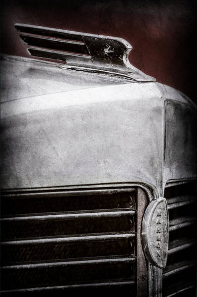 Photograph - 1932 Marmon Sixteen Lebaron Victoria Coupe Hood Ornament - Grille Emblem - 1904ac by Jill Reger