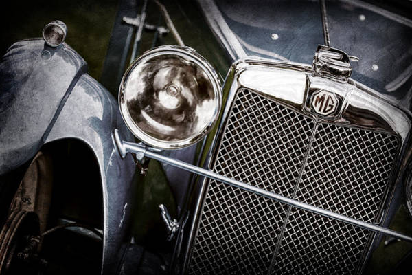 Mg Photograph - 1932 Mg F1 Magna Grille -1363ac by Jill Reger