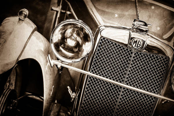 Photograph - 1932 Mg F1 Magna Grille -1363s by Jill Reger