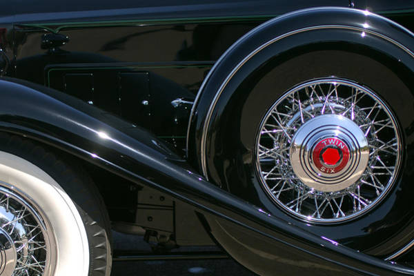 Photograph - 1932 Packard 12 Victoria Convertible Spare Tire by Jill Reger
