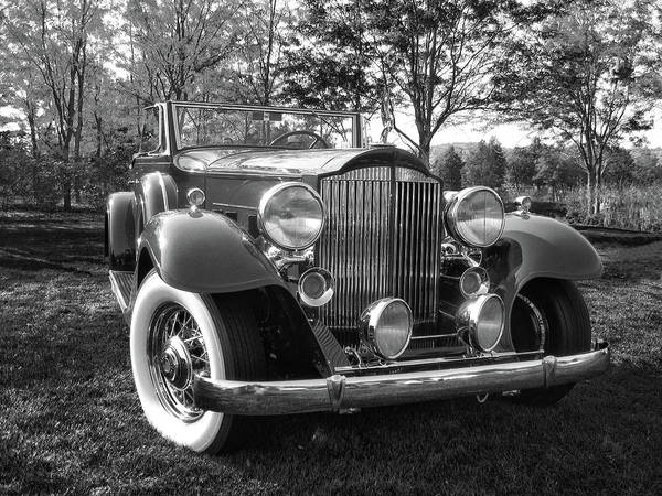 Photograph - 1932 Packard Phaeton Bw by David King