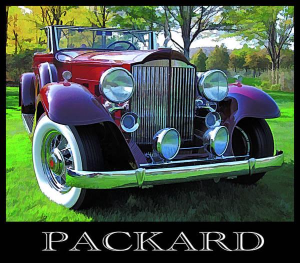 Digital Art - 1932 Packard Phaeton Title by David King