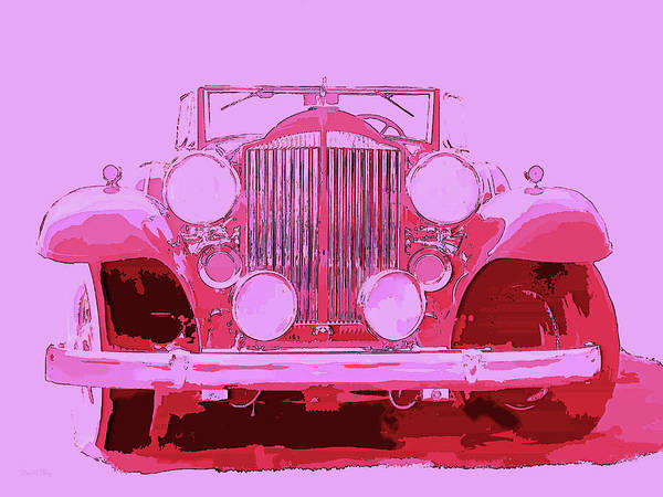 Digital Art - 1932 Packard Pop Art Red Violet by David King