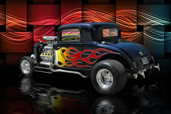 Hot Rod Digital Art - 1932 Plymouth Coupe .... by Rat Rod Studios
