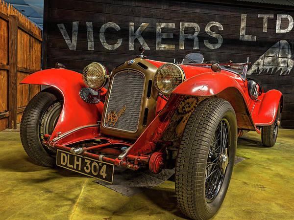 Super Car Mixed Media - 1933 Alfa Romeo 8c 2300 Mille Miglia Spyder by Capt Gerry Hare