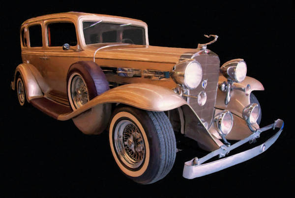 Photograph - 1933 Cadillac V12 Digital Oil by Chris Flees