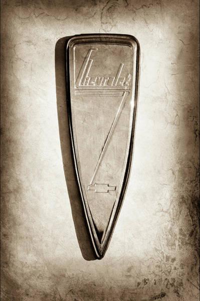 Photograph - 1933 Chevrolet Emblem -0509s by Jill Reger
