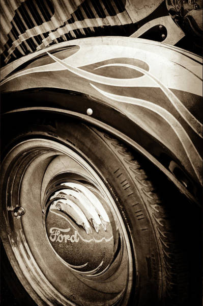 Photograph - 1933 Ford Wheel Emblem - Hot Rod -0181s by Jill Reger