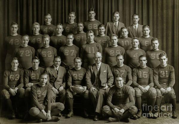 Ohio State Football Photograph - 1933 Michigan Wolverines Football Team by Jon Neidert