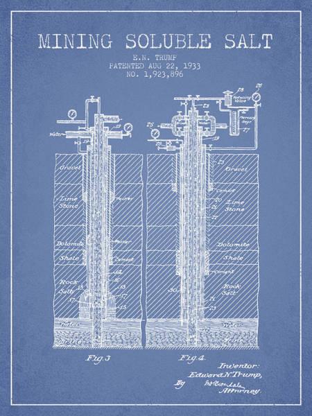 Wall Art - Digital Art - 1933 Mining Soluble Salt Patent En40_lb by Aged Pixel