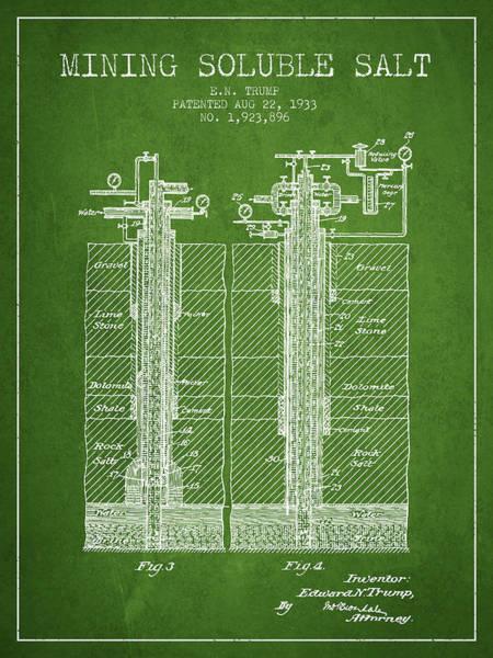 Wall Art - Digital Art - 1933 Mining Soluble Salt Patent En40_pg by Aged Pixel