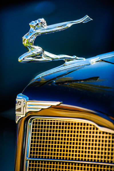 Photograph - 1934 Buick Series 96-c Convertible Coupe Hood Ornament - Emblem by Jill Reger