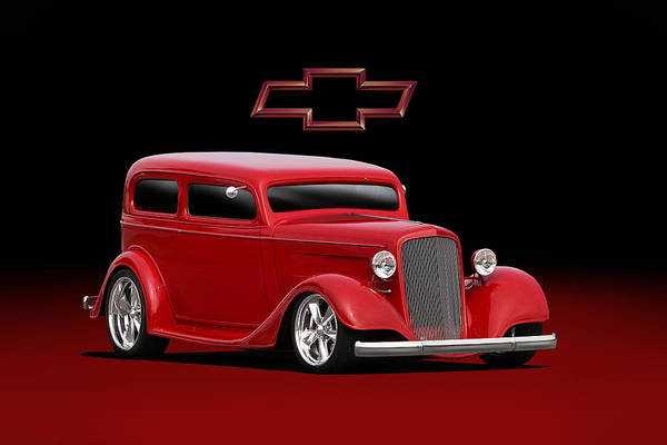 Wall Art - Digital Art - 1934 Chevy Street Rod by Peter Chilelli