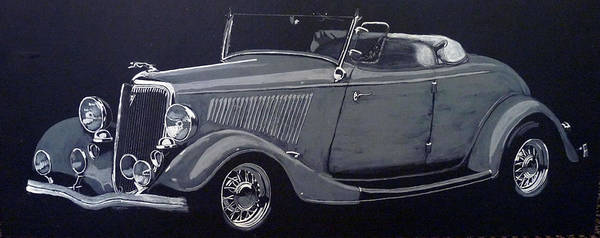 Painting - 1934 Ford Roadster by Richard Le Page