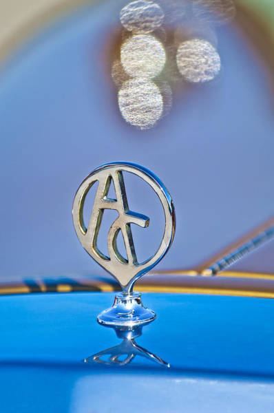 Hoodie Photograph - 1934 Mercedes Replica Hood Ornament by Jill Reger