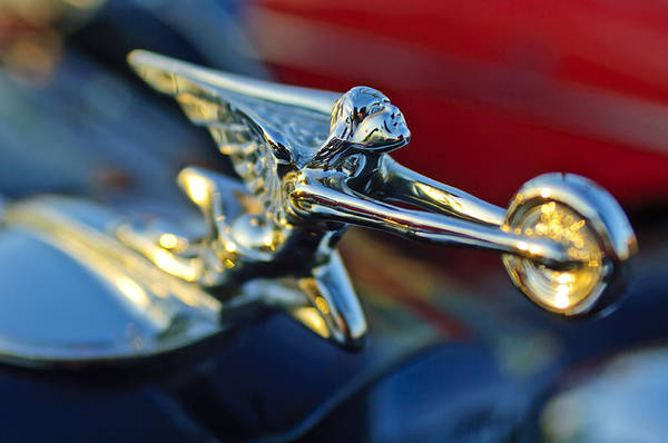Photograph - 1934 Packard Hood Ornament by Jill Reger